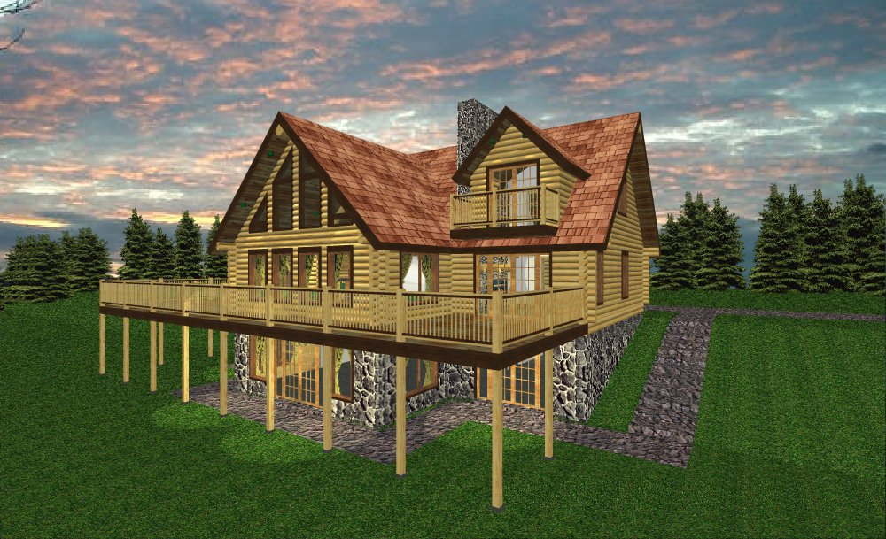 Adk floor plans for Adirondack style homes